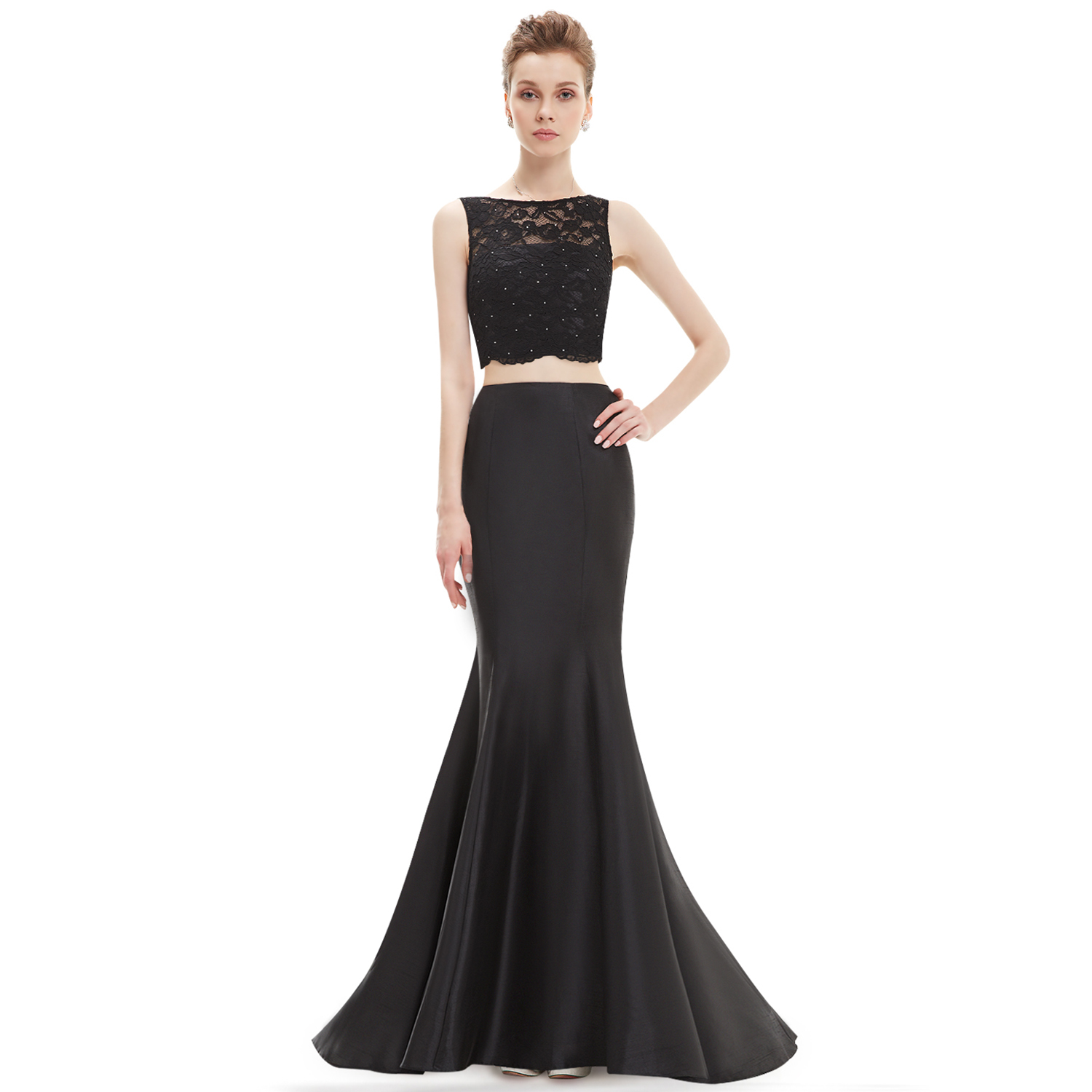 Ever-Pretty Long Wedding 2 Pieces Formal Evening Bridesmaid Gown ...