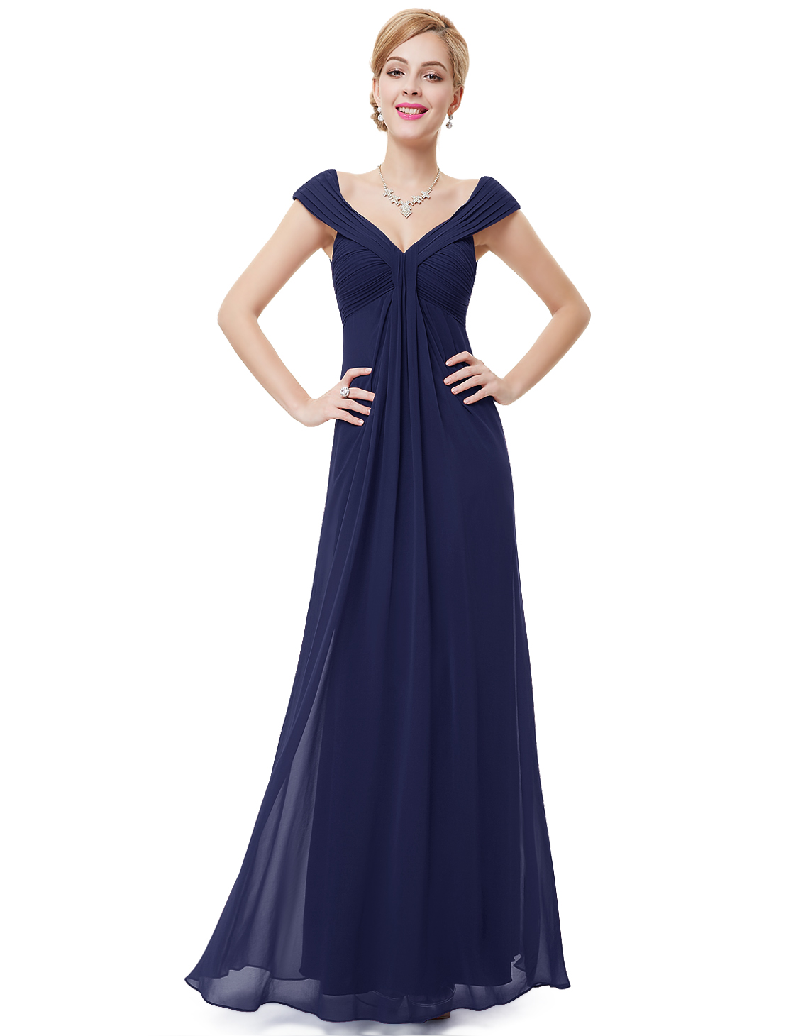 Long formal bridesmaid dress ball gown evening party for Ever pretty wedding dresses