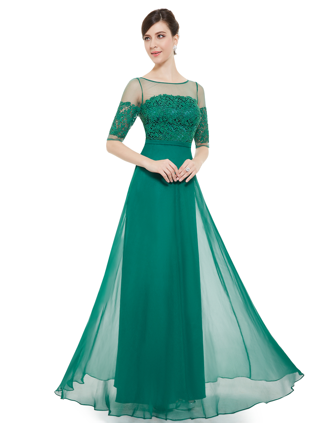Women Lace Long Formal Cocktail Dress Evening Ball Gown Party Dress ...