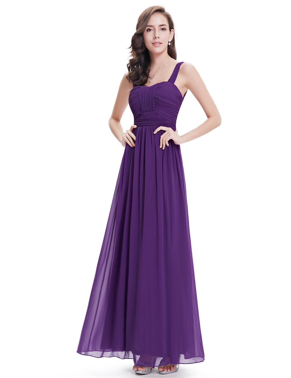Ever Pretty Women Gorgeous Long Purple Bridesmaid Prom