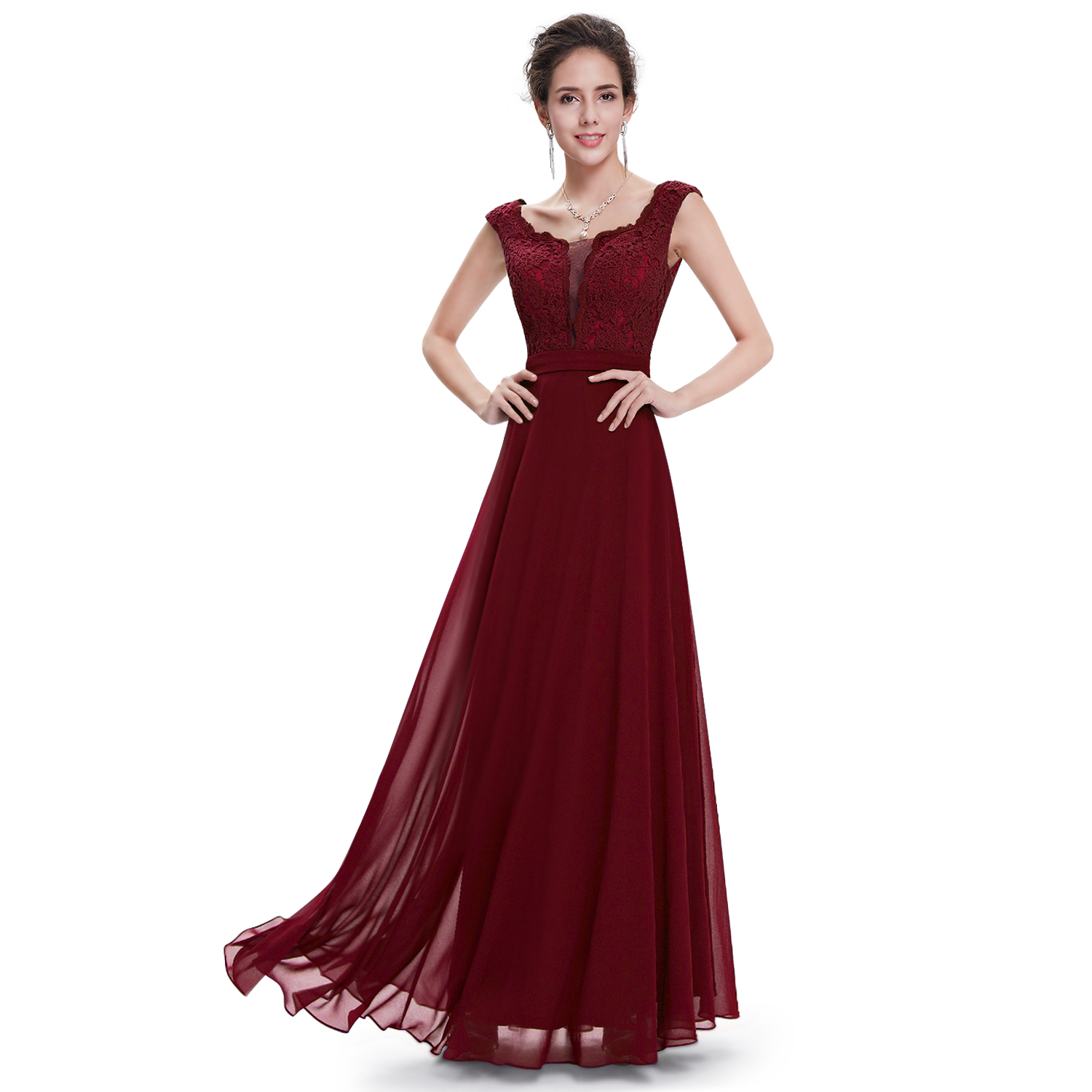 Ever pretty maxi long bridesmaid party formal ball gowns for Pretty ball gown wedding dresses