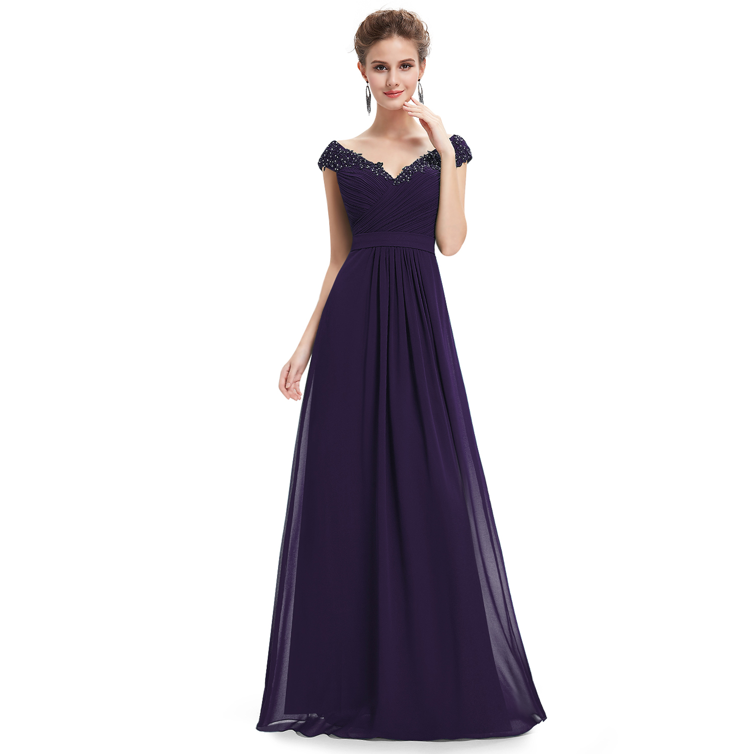 Beaded Military Ball Gowns Evening Bridesmaid Dress 08633 Size 6 ...