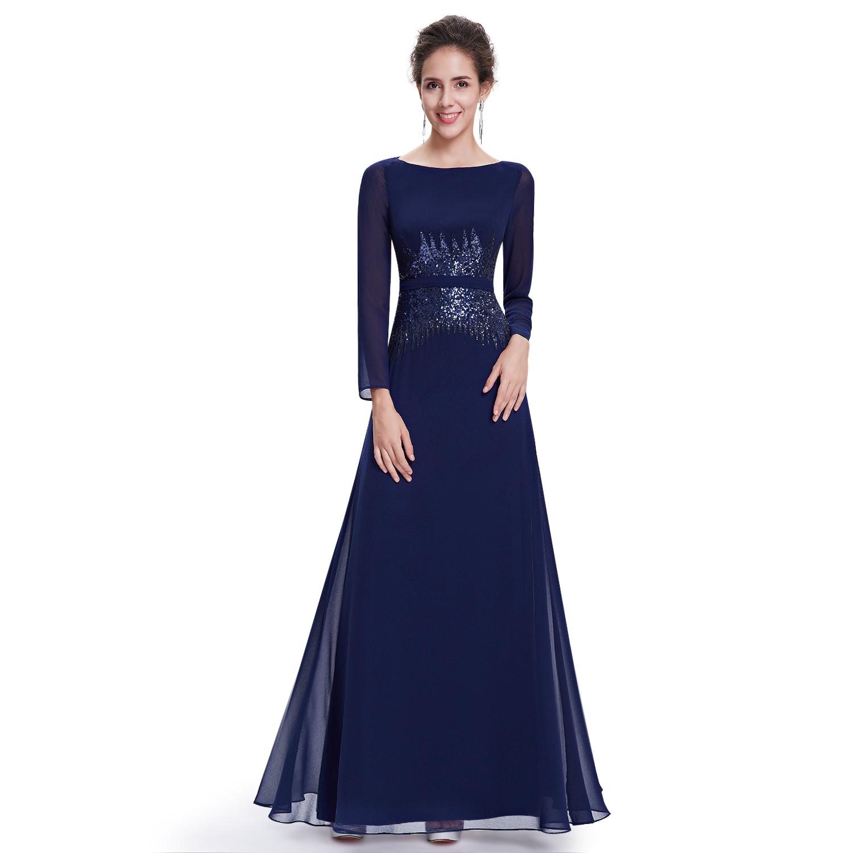 Dark blue long sleeve dresses