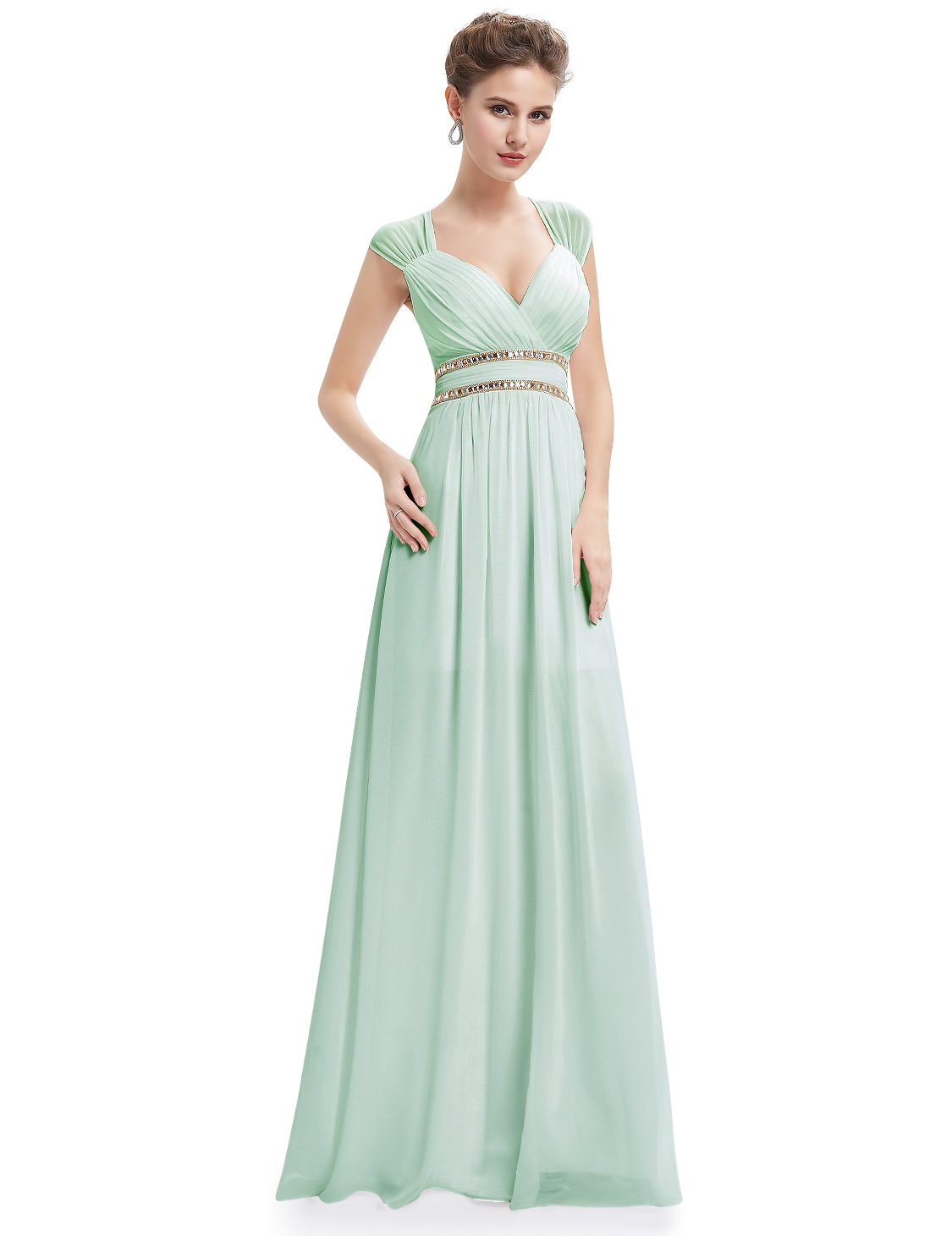 Women\'s Long Cap Sleeve A-line Bridesmaid Dresses Evening Party Prom ...