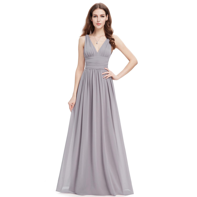Ever pretty sexy chiffon bridesmaid dresses v neck long for Ever pretty wedding dresses