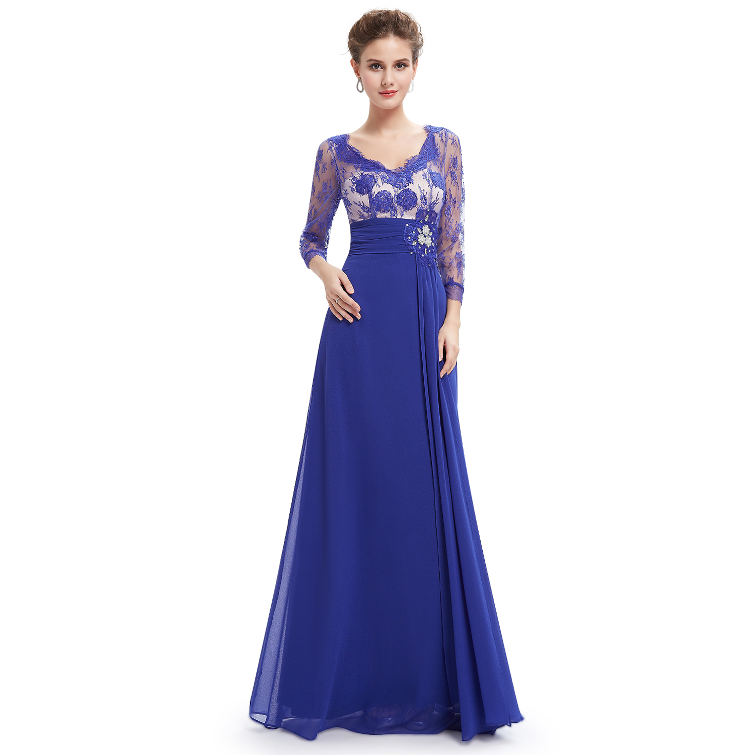 womens 34 sleeve lace long formal evening party dresses