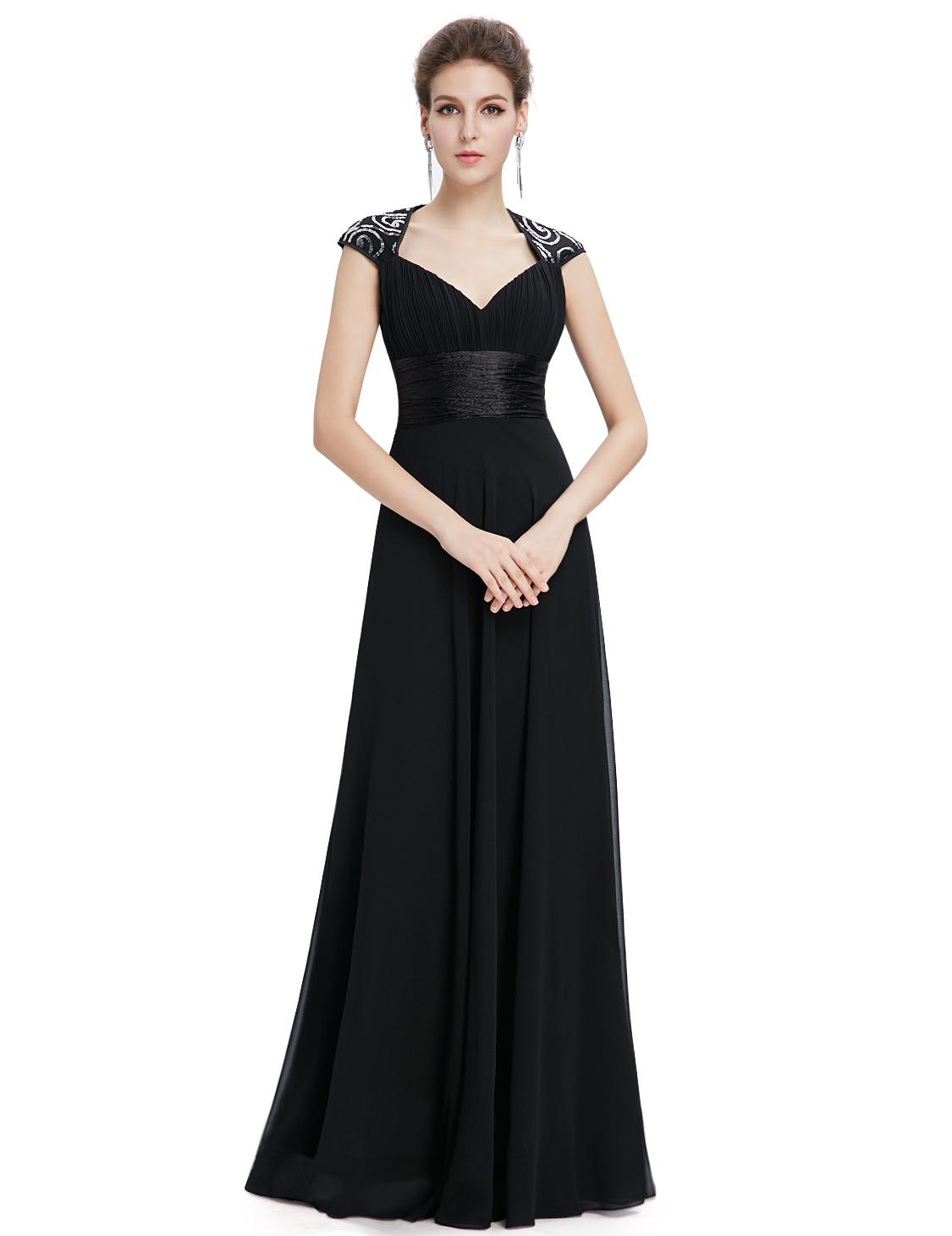 Women V Neck Evening Dress Formal Long Bridesmaid Dress