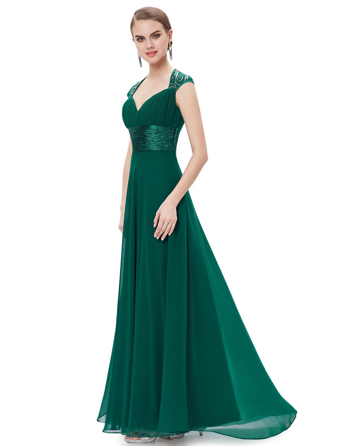 Ever-Pretty Green Cocktail Dress Long Bridesmaid Dress ...