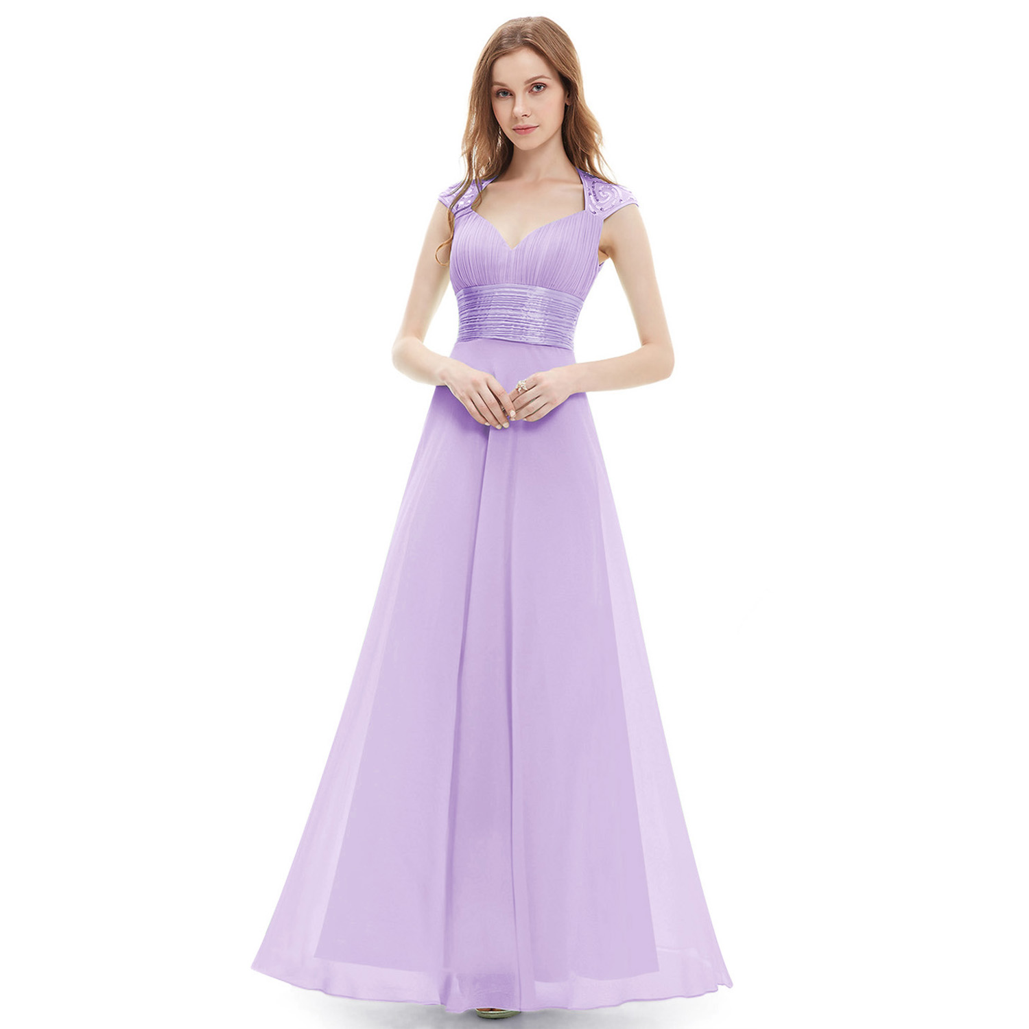Long Chiffon Bridesmaid Party Dresses Formal Evening Prom Gown 09672 ...