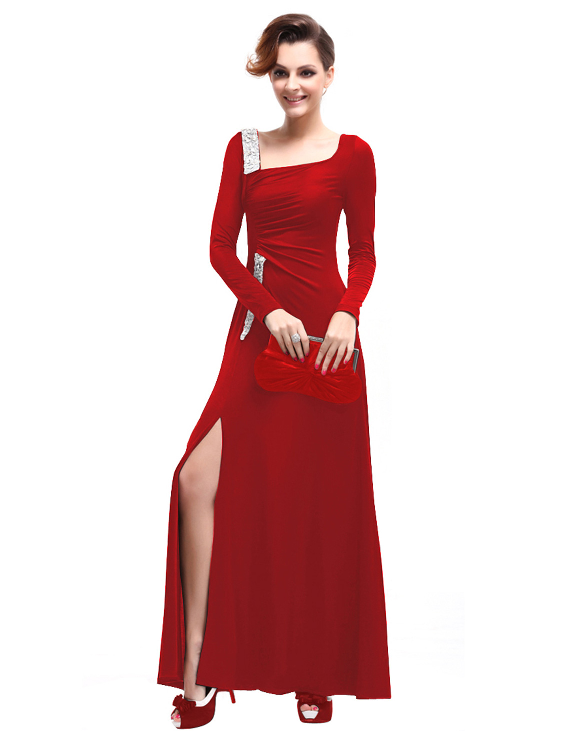 Long Sleeve Evening Dresses Ebay - Plus Size Tops