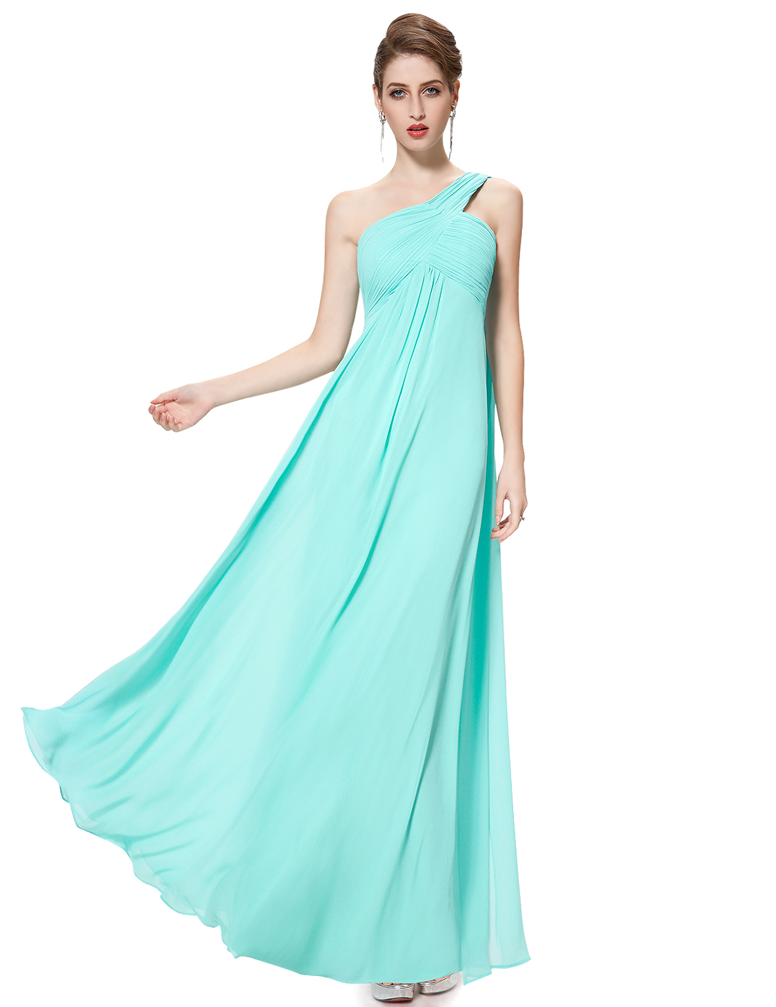US Long Women\'s One-shoulder Bridesmaid Party Dresses Formal Ball ...