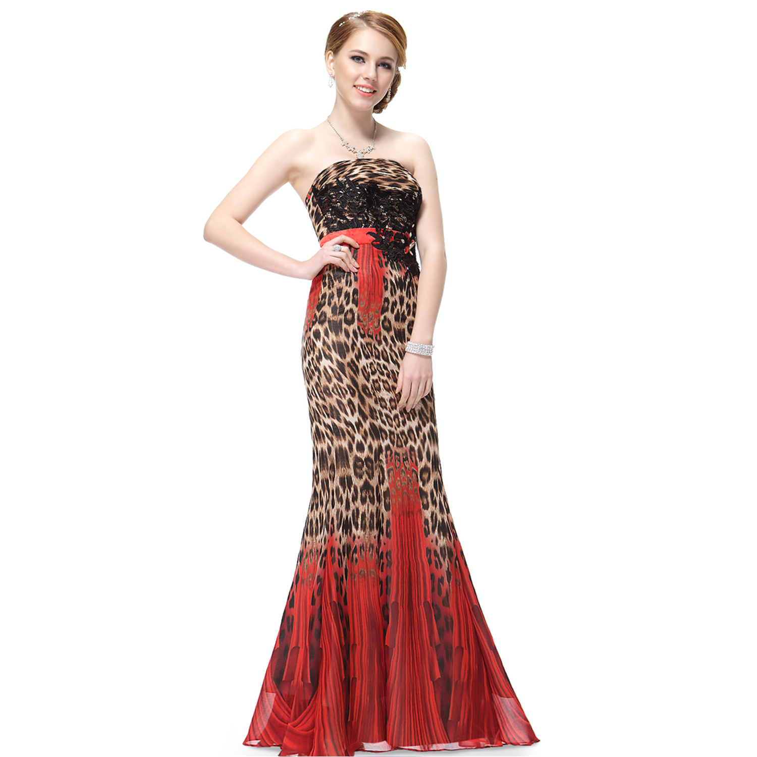 Mermaid Leopard Long Evening Dresses Homecoming Party Pageant ...