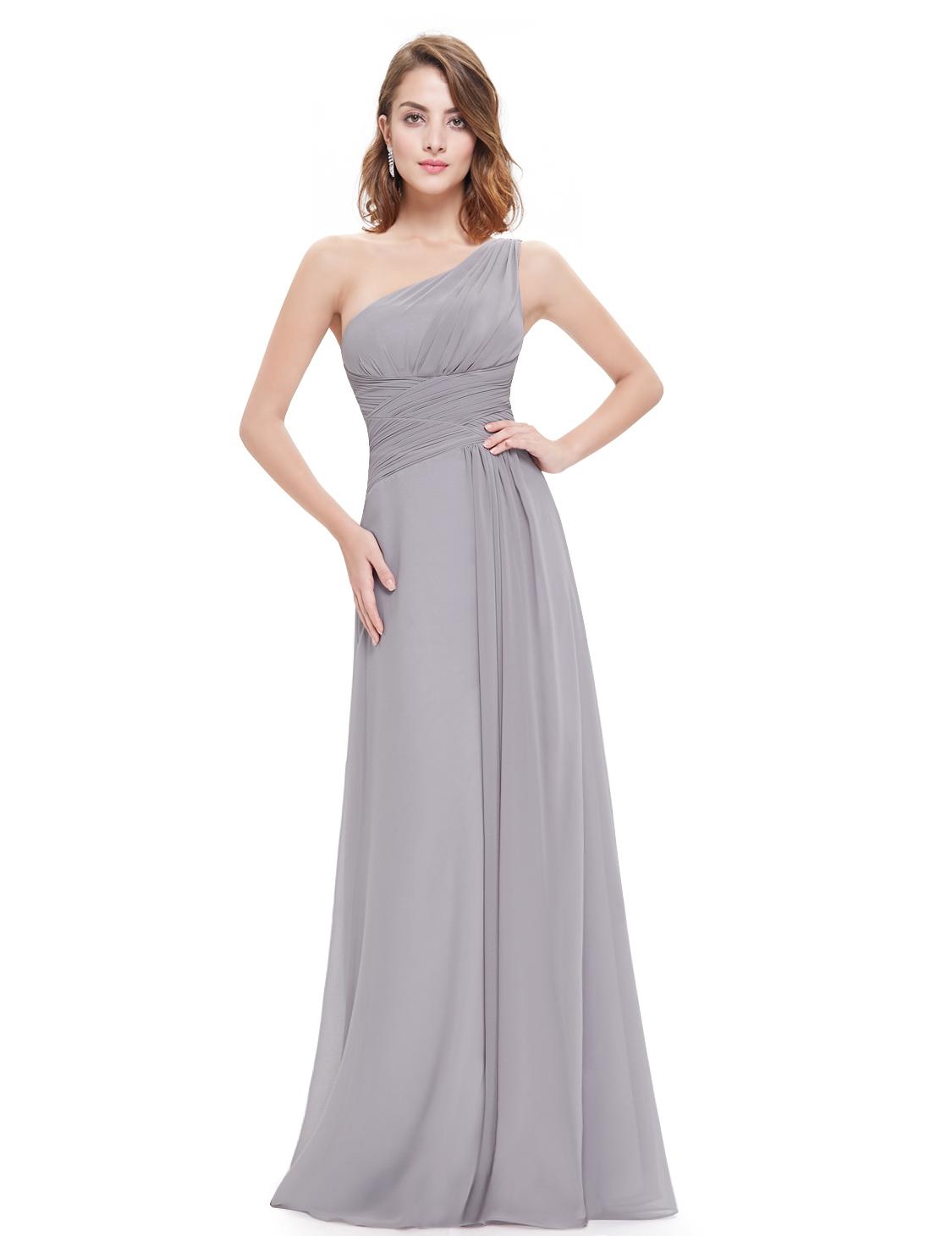 One Shoulder Bridesmaid Dress Mother of Bride Wedding Dresses 09905 ...