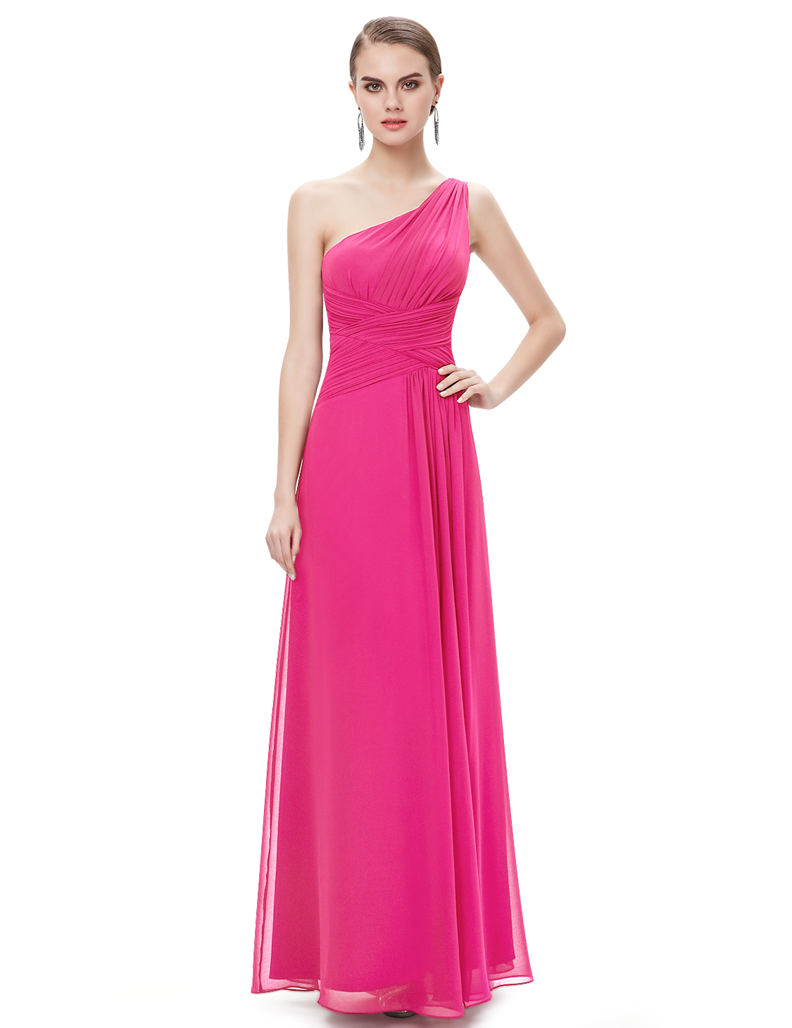 One Shoulder Bridesmaid Dress Mother Of Bride Wedding