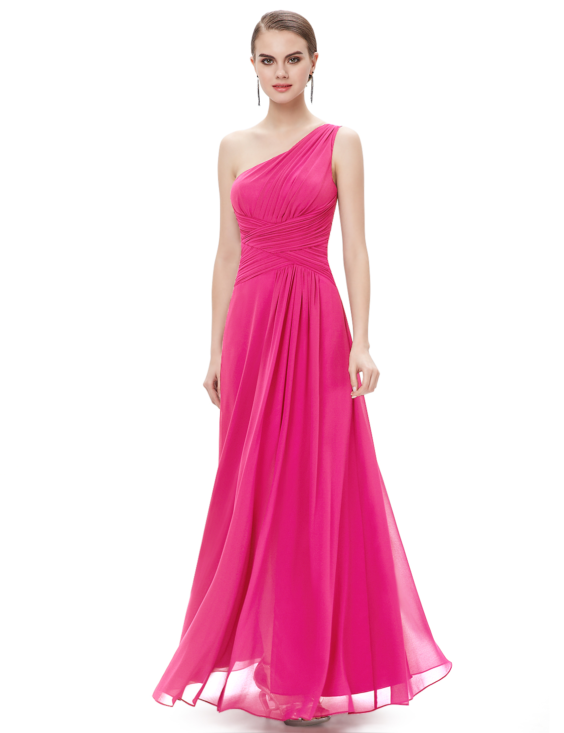 Hot One-shoulder High-slit Formal Evening Party Dresses Bridesmaid ...