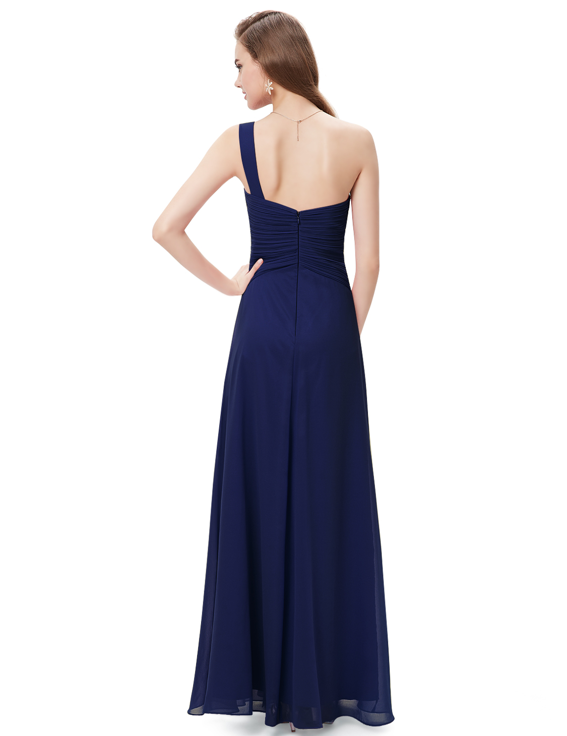 One shoulder bridesmaid dress mother of bride wedding for Ebay wedding bridesmaid dresses