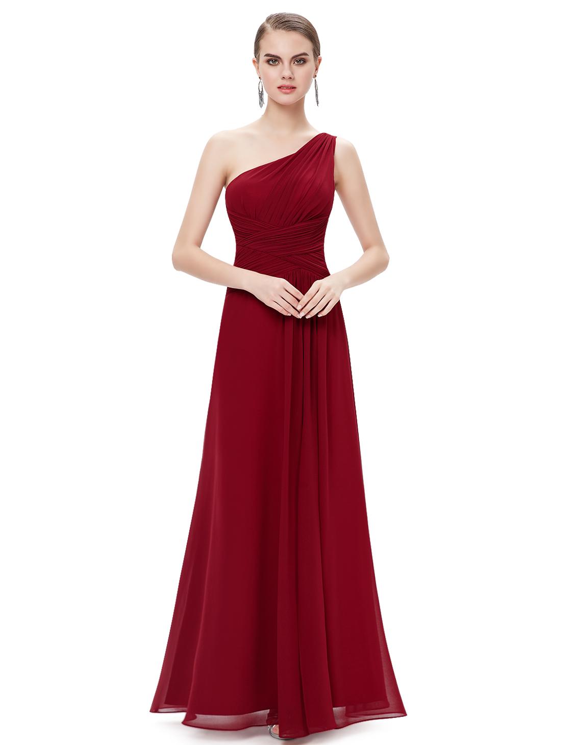 Hot one shoulder high slit formal evening party dresses bridesmaid hot one shoulder high slit formal evening party ombrellifo Images