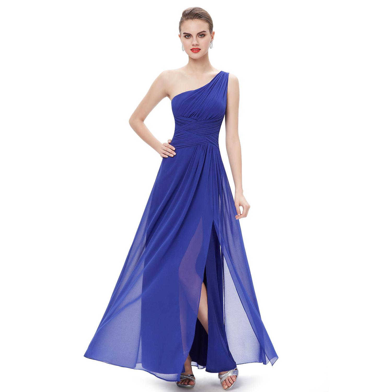 Long Formal Wedding Dress One Shoulder Backless Evening Gowns 09905 ...