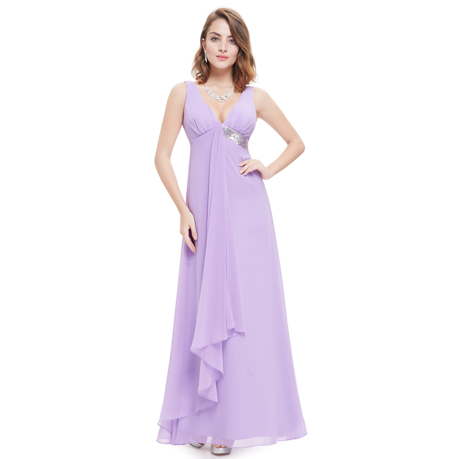Ever-pretty Long V-neck Formal Evening Party Dress Bridesmaid Party ...