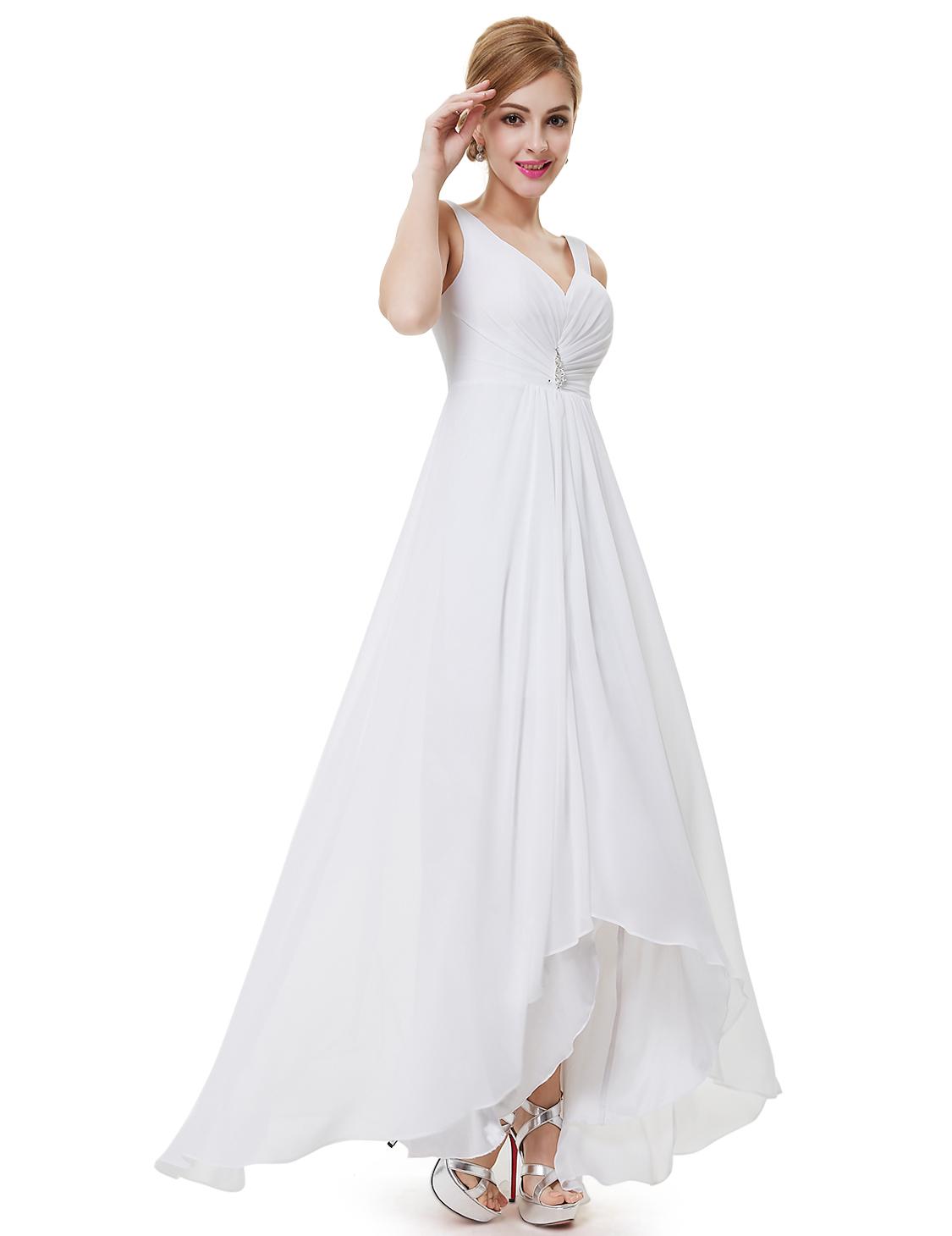 Ever pretty long bridesmaid party cocktail formal for Wedding dresses asymmetrical hemline