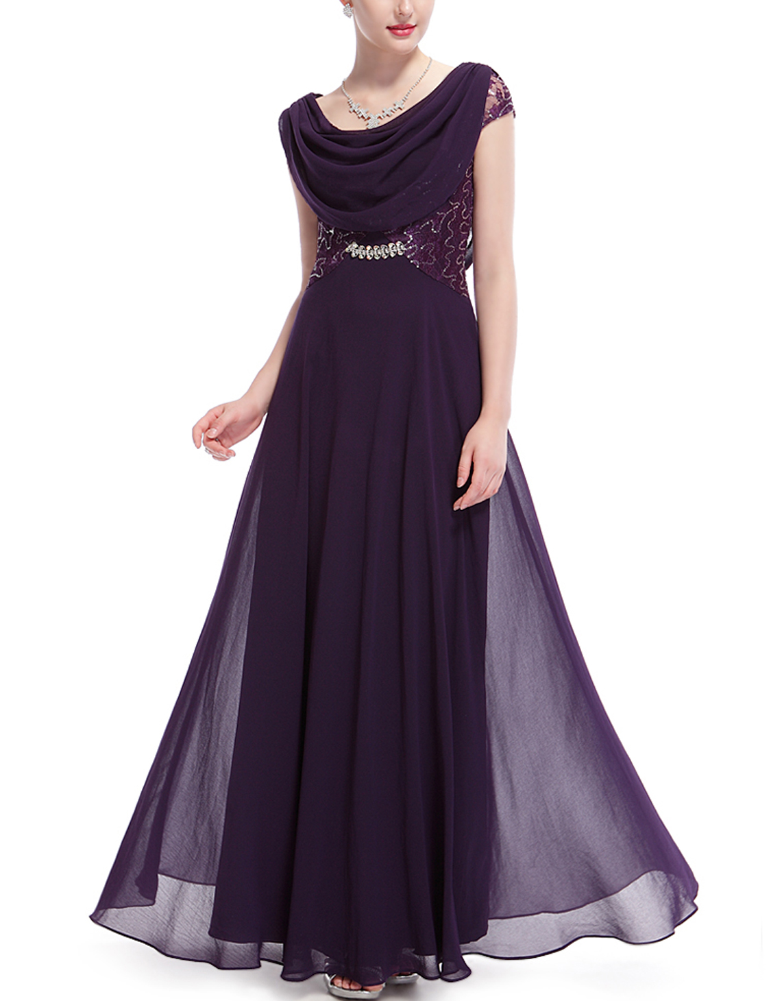 Ever pretty long chiffon prom dresses evening formal party for Pretty ball gown wedding dresses