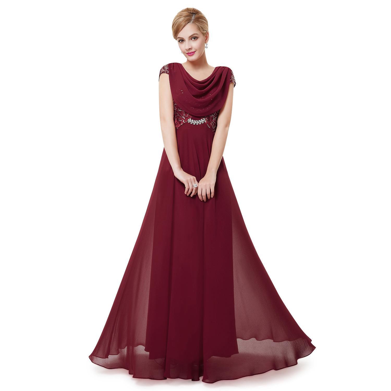 Long Women's Elegant Bridesmaid Party Dresses Formal