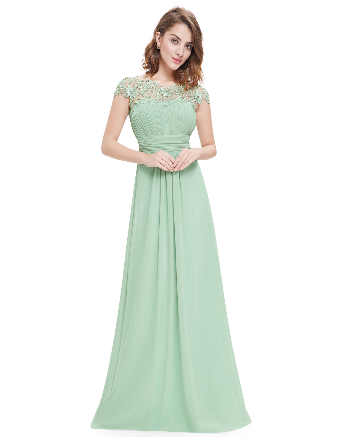 Ever pretty women 39 s lace formal evening gown party prom for Ever pretty wedding dresses